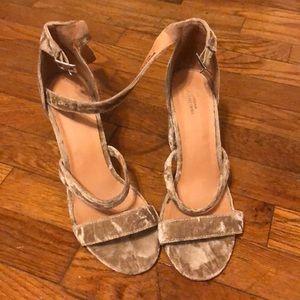 Urban outfitters velvet heels